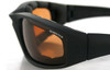 Bobster Foamerz 2 Safety Sunglasses with Black Frame and Anti-Fog Amber Lens