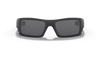 Oakley Gascan Sunglasses with Matte Black Frame and Grey Lens 03-473 Front View