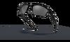 Oakley Half Jacket 2.0 XL Sunglasses with Polished Black Frame and Black Iridium Lenses OO9154-01 Profile View