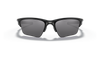Oakley Half Jacket 2.0 XL Sunglasses with Polished Black Frame and Black Iridium Lenses OO9154-01 Front View