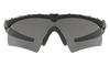 Oakley SI Ballistic M Frame 2.0 Hybrid with Black Frame and Grey Lens 11-142 Front View