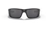 Oakley SI Fuel Cell with Matte Black Frame and US Flag Grey Lens OO9096-38 Front View