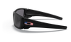 Oakley SI Fuel Cell with Matte Black Frame and US Flag Grey Lens OO9096-38 Side View