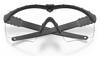 Oakley SI Ballistic M Frame 3.0 Array Black Frame Clear & Grey Lenses OO9146-03 Front Folded
