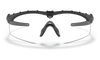 Oakley SI Ballistic M Frame 3.0 Array Black Frame Clear & Grey Lenses OO9146-03 Front