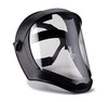 Uvex Bionic Face Shield with Matte Black Frame and Clear Anti-Fog Shield S8510