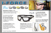 Pyramex I-Force Safety Goggle/Glasses with Black Frame and Gray Anti-Fog Lenses
