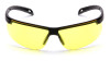 Pyramex Ever-Lite Safety Glasses with Black Frame and Amber Lenses - Front View