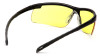 Pyramex Ever-Lite Safety Glasses with Black Frame and Amber Lenses - Inside View