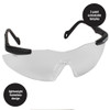 Smith & Wesson Magnum Safety Glasses with Clear Anti-Fog Lens 19794 Front Side View