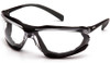 Pyramex Proximity Safety Glasses with Black Frame and Clear Lens