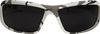 Edge Brazeau Ballistic Safety Glasses with Arctic Camo Frame and Smoke Lens - Front View