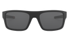 Oakley Drop Point Sunglasses with Matte Black Frame and Grey Lens OO9367-0160 Front View