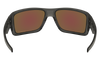 Oakley Double Edge Sunglasses with Grey Smoke Frame and Prizm Sapphire Polarized Lens Inside View