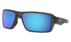 Oakley Double Edge Sunglasses with Grey Smoke Frame and Prizm Sapphire Polarized Lens OO9380-0666