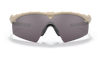 Oakley SI Ballistic M Frame 3.0 with Bone Frame and Prizm Grey Lens OO9146-3432 Front View 2