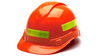 Pyramex Adhesive Reflective Strips for Hard Hats - Lime