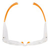 KleenGuard Maverick Safety Glasses with Clear Frame and Clear Anti-Fog Lens Top View