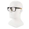 KleenGuard Maverick Safety Glasses Black/Orange Frame Clear Anti-Glare Lens Model 1