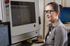 KleenGuard Maverick Safety Glasses Black/Orange Frame Clear Anti-Glare Lens Lifestyle