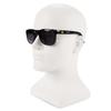 KleenGuard Maverick Safety Glasses with Black Frame and Gray Anti-Fog Lens Worn on model