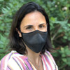 Honeywell Dual-Layer Knit Face Cover & Filters, Dark Gray - Being Worn