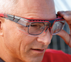 Uvex Avatar OTG Safety Glasses with Black/Red Frame and Clear Lens S3851 Model View 2