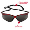 KleenGuard Nemesis Inferno Safety Glasses with Red Frame and Smoke Lens 22611 Front View