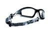 Bolle Tracker Safety Glasses Black Frame Clear Anti-Fog Lenses 40085