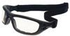 Guard Dogs G100 Safety Glasses/Goggle Kit with Black Frame and Clear and Gray Lenses with goggle strap