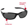 KleenGuard Hellraiser Safety Glasses with Smoke Lens 25714 Features