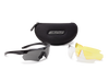 ESS Crossbow 3 Lens Kit Black Frame Clear, Smoke Gray, Hi-Def Yellow Lenses 740-0387