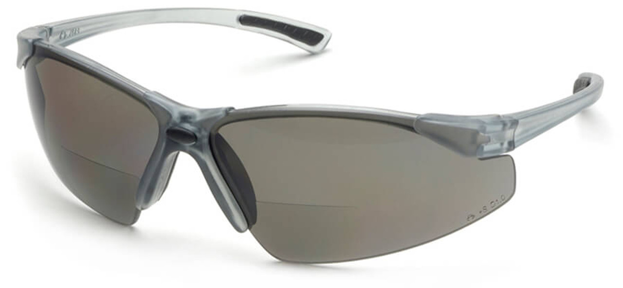 bb22e4d760 Elvex Rx-200 Bifocal Safety Glasses With Gray Lens