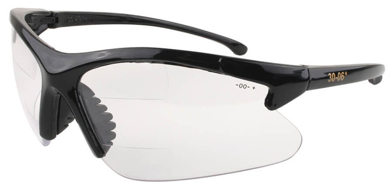 369b9cfa11 Olympic 30-06 Dual Segment Bifocal Safety Glasses With Clear Lens