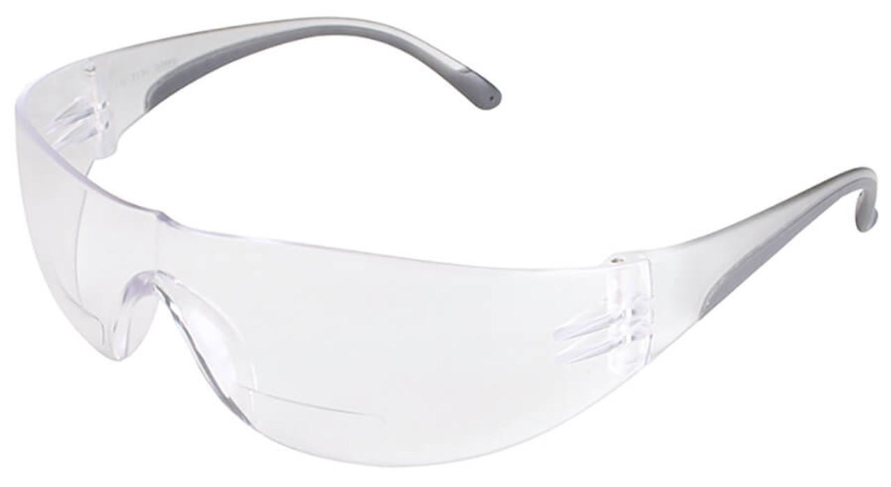 323aaf2b1c Bouton Zenon Z12R Bifocal Safety Glasses with Black Temple Trim and Clear  Lens