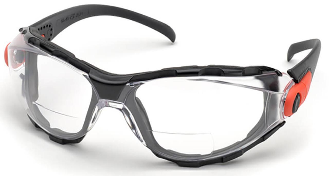c972c56265 Elvex Go-Specs Bifocal Safety Glasses Foam Seal Clear Anti-Fog Lens