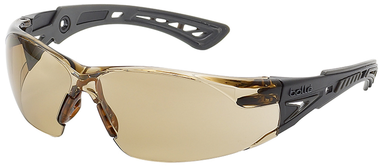 c365d74f19 Bolle Rush Plus Safety Glasses with Black Gray Temples and Twilight Lens  with Platinum Anti