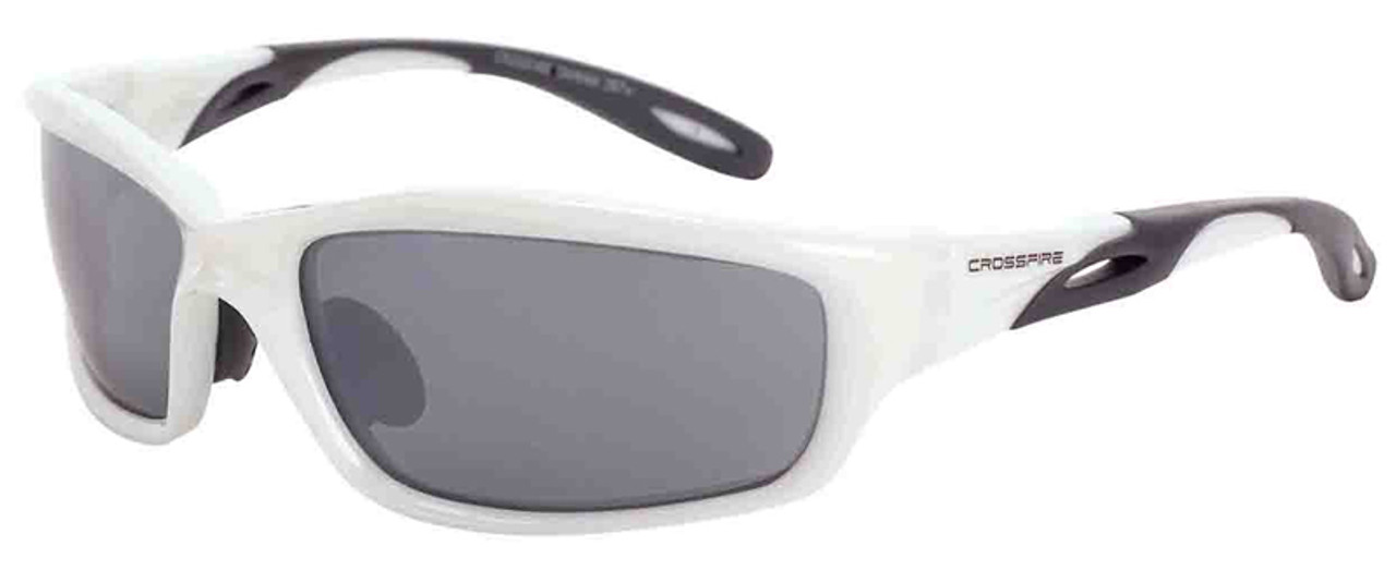 66f3d50d893 Crossfire Infinity Safety Glasses with Pearl White Frame and Silver Mirror  Lens