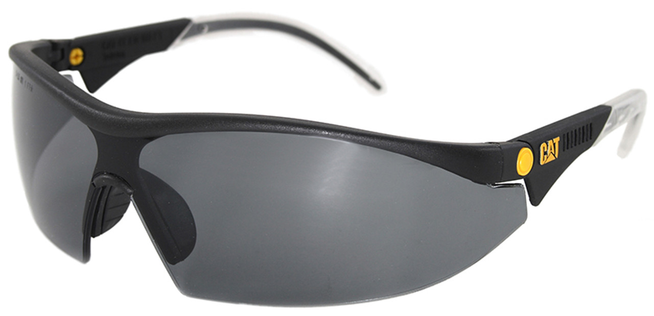 888f70bc50 CAT Digger Safety Glasses with Black Frame and Smoke Lens
