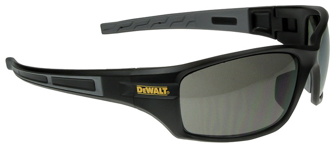 3a3a82c63e9e DeWalt Auger Safety Glasses with Black/Gray Frame and Smoke Lenses