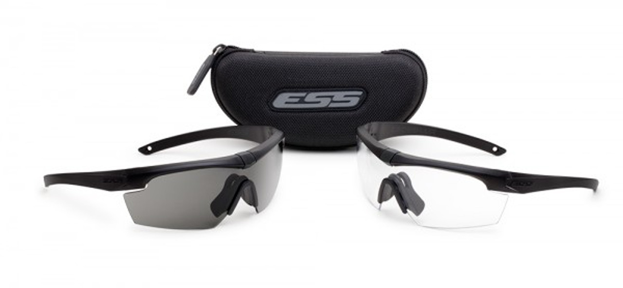 92da908b270b ESS Crosshair 2X Kit with Black Frames and Clear and Smoke Lenses - Safety Glasses  USA