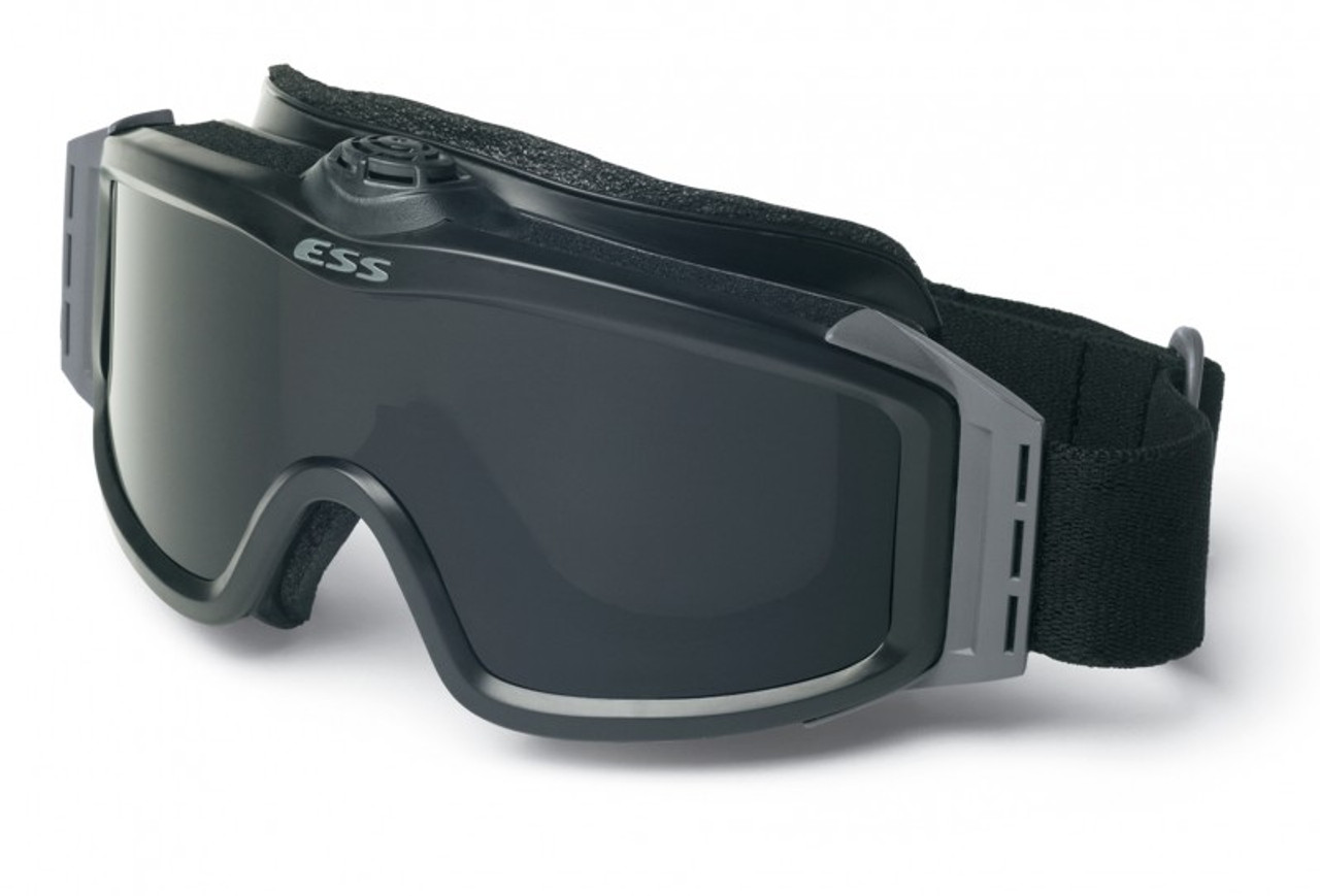 5f59cf6b9d ESS Profile TurboFan Goggle Black with Clear and Gray Lenses and ...