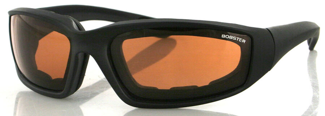 adac44d157 Bobster Foamerz 2 Safety Sunglasses with Black Frame and Anti-Fog Amber Lens