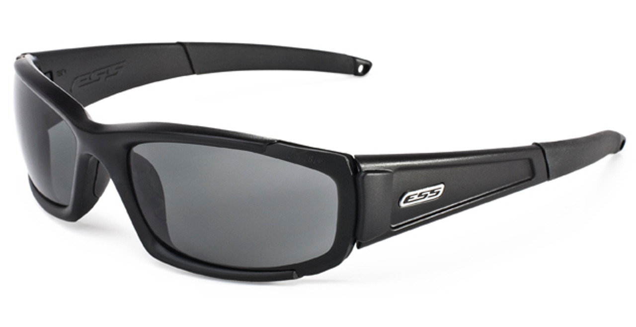 8d77a2f7085f ESS CDI Ballistic Sunglasses with Black Frame and Clear and Smoke Lenses -  Safety Glasses USA
