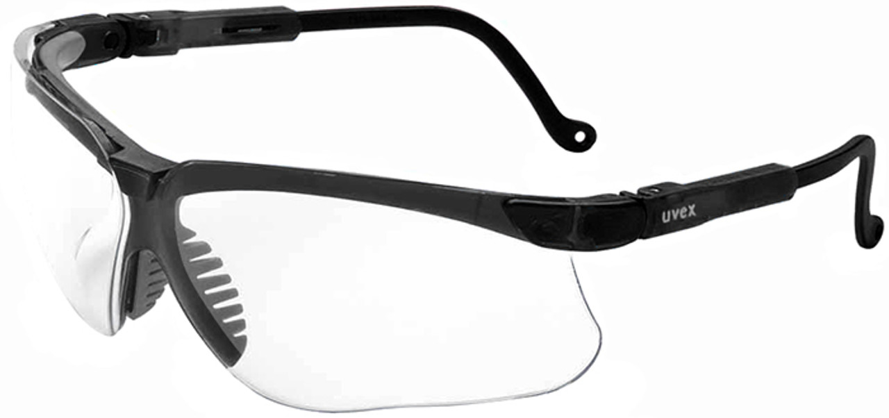 5257602e5b17 Uvex Genesis Safety Glasses with Black Frame and Clear Lens