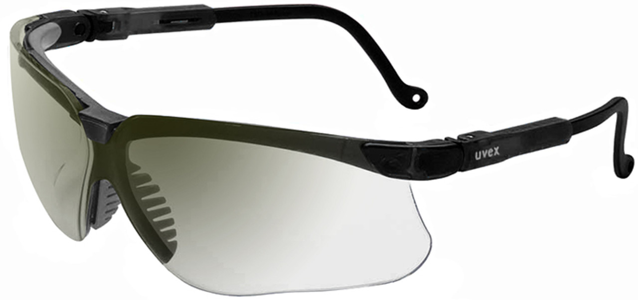 48ce1eea981 Uvex Genesis Safety Glasses with Black Frame and Ref50 Lens