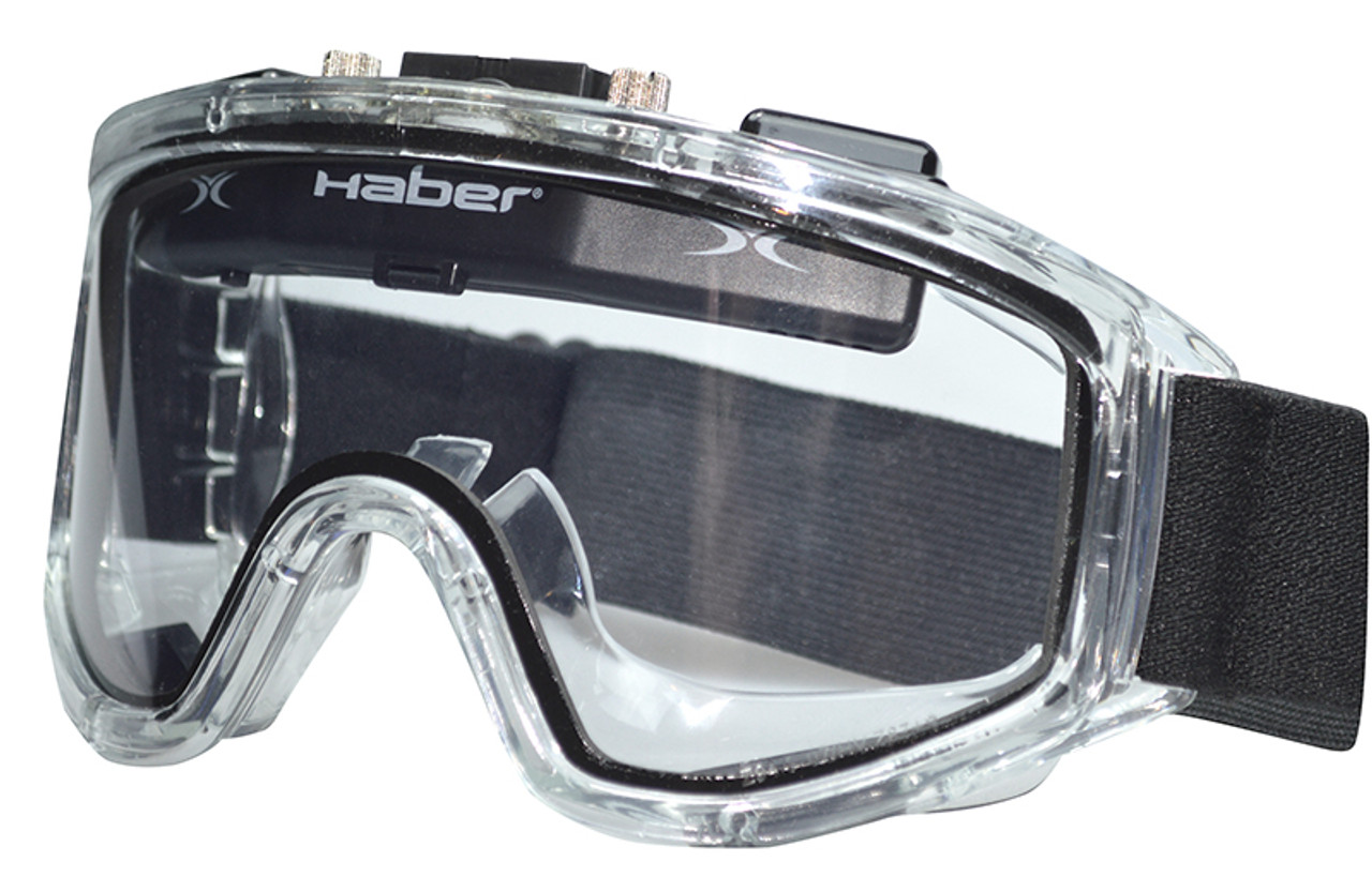 6b40949f646 Haber Liquidator Splash Goggle with Dual Clear Lens and Eliminator PLUS Fan  - Safety Glasses USA