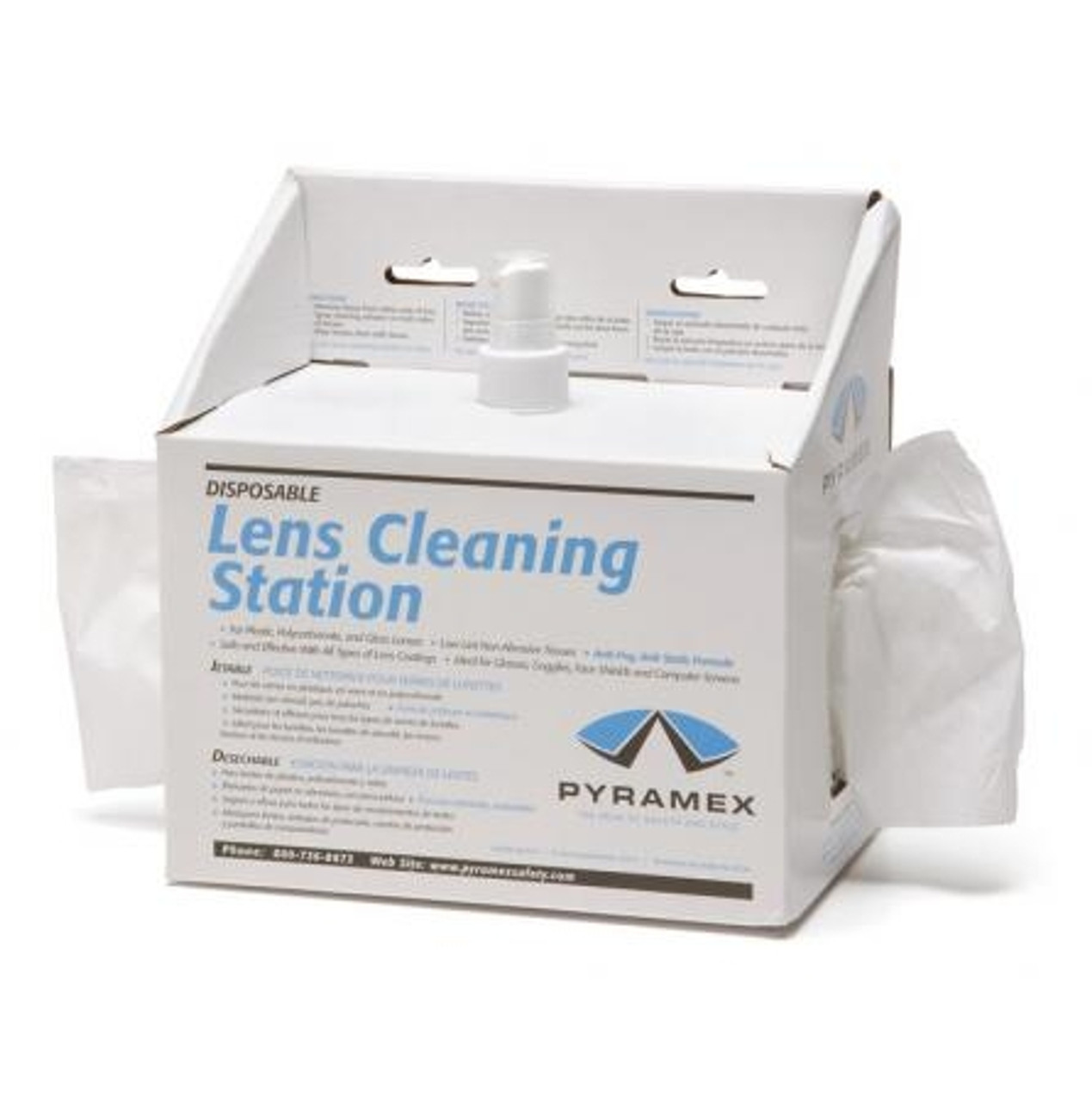 SAFETY GLASSES PYRAMEX LENS CLEANING CLOTH TOWELETTES 500 PIECES LCT100