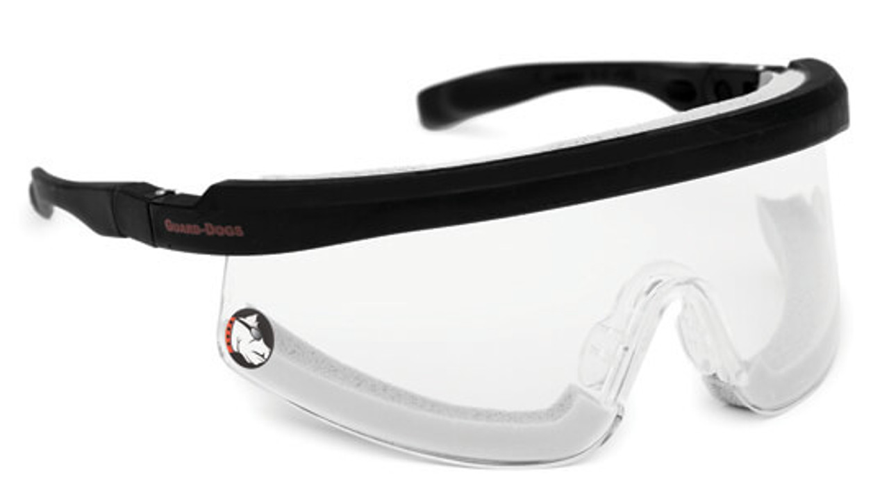 e5f362120c Guard Dogs Purebred Safety Glasses with High Heat Foam and Clear Lens