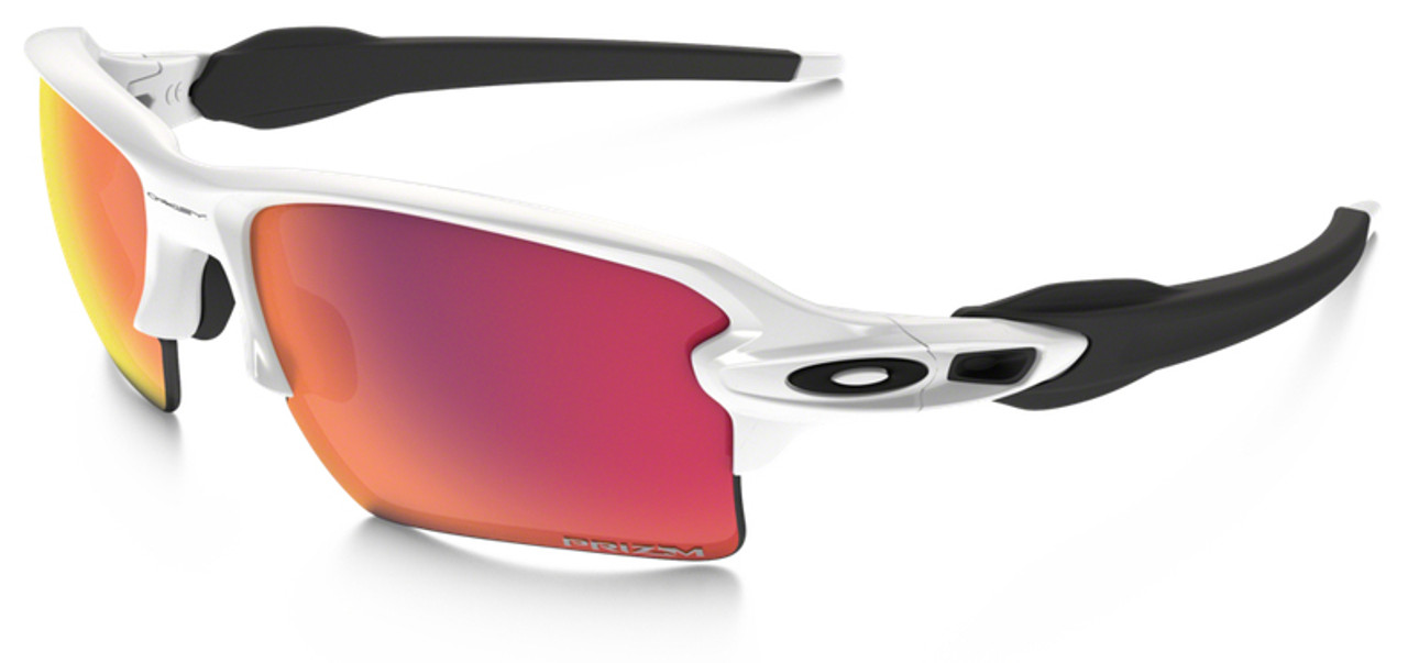 8501ce1f01 Oakley Flak Jacket 2.0 XL Sunglasses with Polished White Frame and Prizm  Baseball Outfield Lens - Safety Glasses USA
